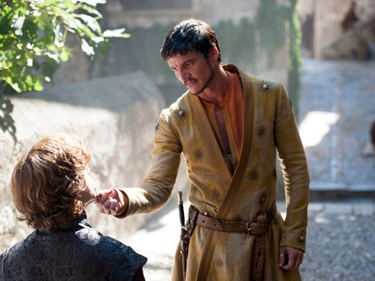 GAME OF THRONES season 4: Peter Dinklage, Pedro Pascal. photo: Macall B. Polay [Via MerlinFTP Drop]