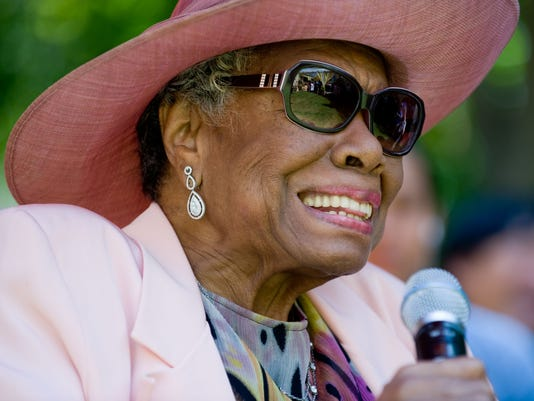Dr. Maya Angelou attends her 82nd birthday