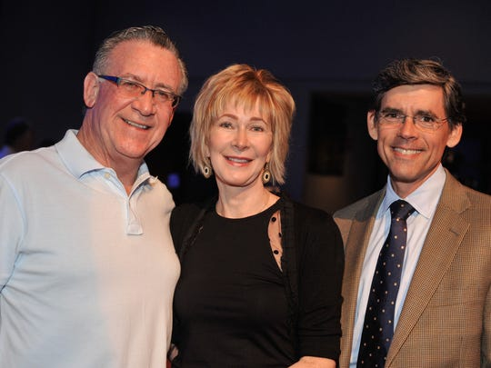At the fundraiser are (from left) Vince Begatto, Lisa Begatto and Paul Fioravanti, all of Wilmington. The first Stand-Up for Fair Lending and Rock with DCRAC was held Friday at World Cafe Live at the Queen in Wilmington.