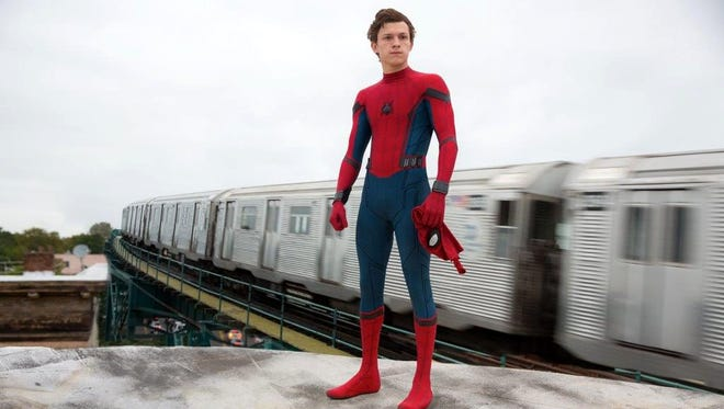 "Tom Holland stars as Peter Parker-Spider-Man in ""Spider-Man: Homecoming."""
