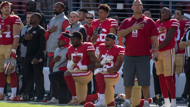 NFL player protests have continued this season.