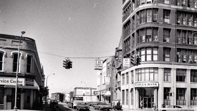 Water Street, west of Military Street, in 1976.