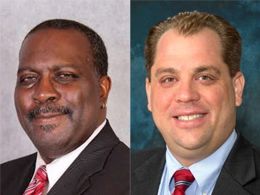 York County District Justice Candidates, James Morgan, left, and Kevin Titzell, right.
