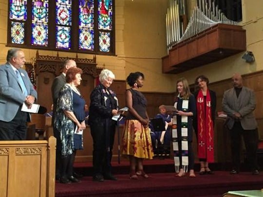 Rev. Terilyn Lawson was installed on Oct. 23, as associate pastor of First Presbyterian Church in Great Falls — and concurrently as the first resident in the Chaplain Candidate Residency Program.