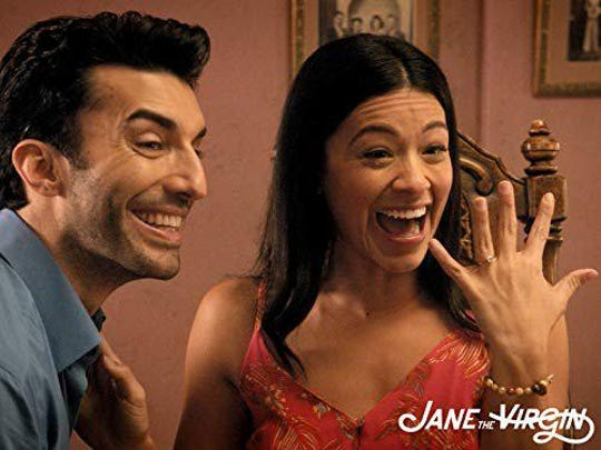 """Justin Baldoni and Gina Rodriguez in """"Jane the Virgin,"""" which airs its series finale Wednesday."""