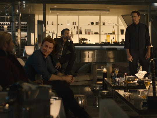 The heroes enjoy some downtime in Avengers Tower before
