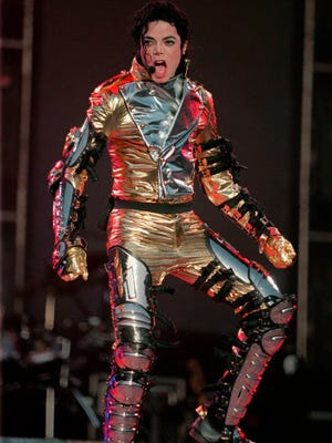 Michael Jackson, seen on stage May 31, 1997, in Bremen, Germany. A posthumous album will be out May 13.