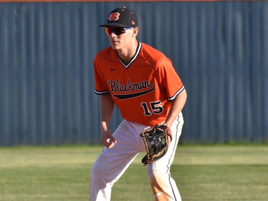 Blackman senior Derick Junker has been valuable on the mound and in the field for the Blaze.