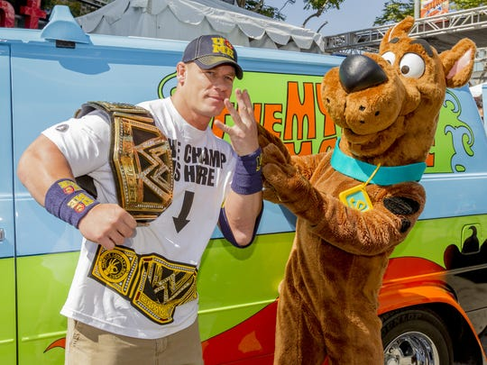 John Cena, seen here with Scooby-Doo, is a hero to
