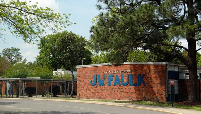J.W. Faulk Elementary is one school that could see more students under a rezoning plan.