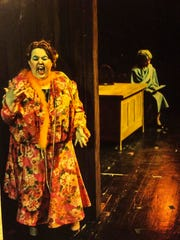 Syndi Zook as Miss Hannigan in the 1988 Lyric Theater