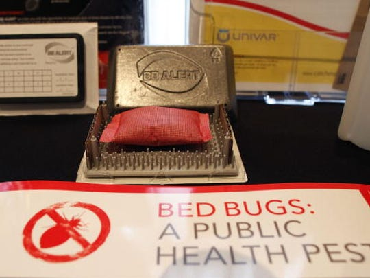 ROSEMONT, IL - SEPTEMBER 22:  A bed bug detection device is displayed at the Bed Bug University North American Summit 2010 on September 22, 2010 in Rosemont, Illinois. The two-day conference of bed bug experts and pest control workers featured seminars from researchers and vendors displaying the latest products focused on bedbug detection, elimination and prevention.
