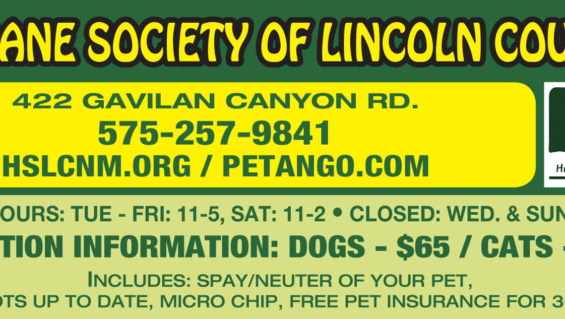Lincoln County Humane Society Pet Page