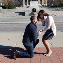 'Real love exists': Iowa couple's viral engagement photo inspires the internet