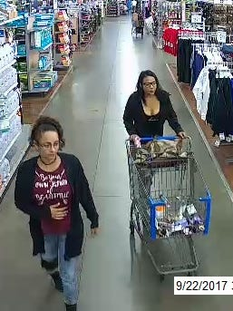 New York State Police are looking for two women suspected in thefts from Wal-Mart stores in Cortland and Norwich.