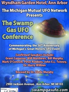 The Swamp Gas UFO conference takes place Saturday in Ann Arbor.