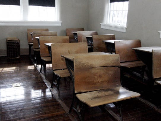 One of the classrooms at the former Bradley Academy,