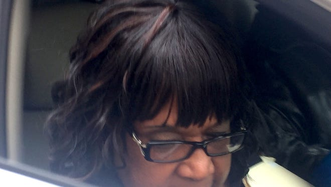 Clara Smith, former principal at Thirkell Elementary-Middle School in Detroit, leaving the federal courthouse in downtown Detroit on April 28, 2016, was sentenced for her role in the Detroit Public Schools kickback scandal Sept. 14, 2016.