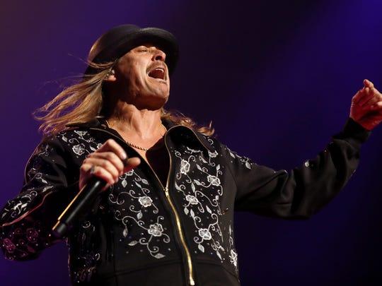 Kid Rock performs at Bridgestone Arena January 19,