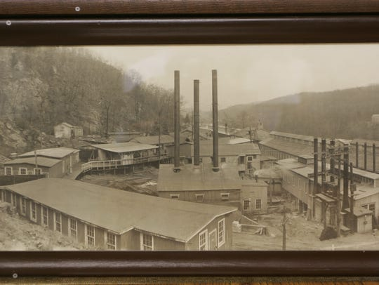 The old DuPont facility in Pompton lakes made blasting