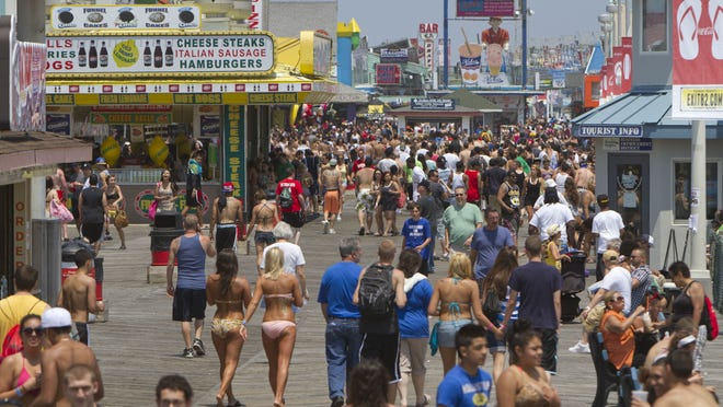 The boardwalk of Seaside Heights.