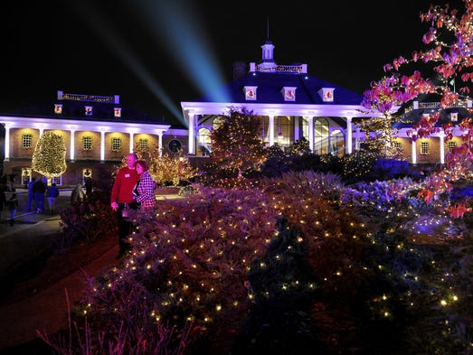 Gaylord Opryland Resort in Nashville is lit for the holidays after the annual Christmas lighting ceremony in 2010. It also helped launch the hotel's grand re-opening after a devastating flood in May.