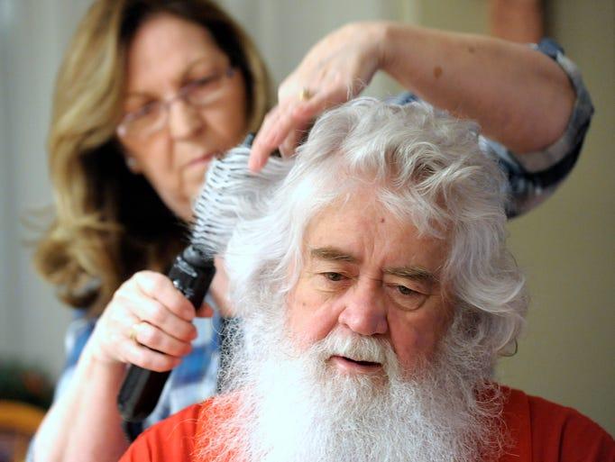 """Bob """"Santa Bob"""" Garrison, 73, gets his natural white"""