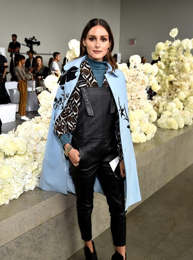 Olivia Palermo wore a powder blue coat to the same