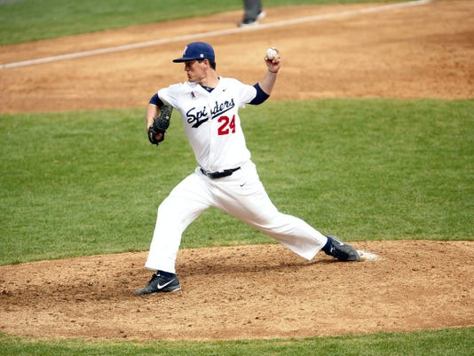 Eastern York grad Dylan Stoops is both a starting pitcher and a reliever for the University of Richmond baseball team.
