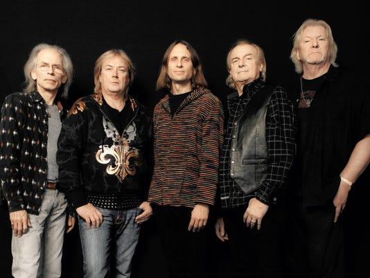 From left Steve Howe, Geoff Downes, Jon Davison, Alan White and Chris Squire.
