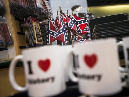 Small Confederate flags that were for sale at the Gettysburg Museum and Visitor's Center book store earlier Thursday have since been removed. The flags and other standalone Confederate flag merchandise were removed after the National Park Service requested their removal.