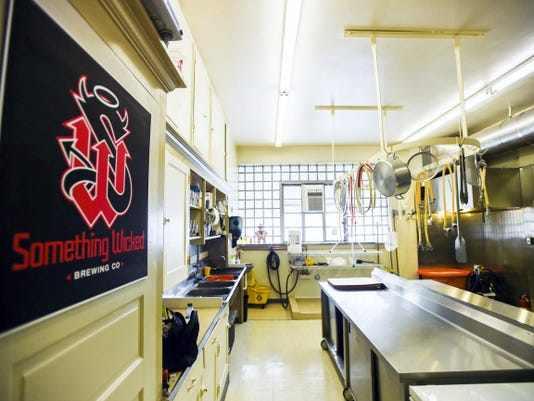 The brewing kitchen at 34 Broadway in downtown Hanover for Something Wicked Brewing Company.