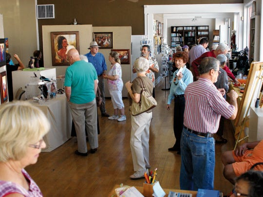 The Deming Art Center artist receptions are well-attended by the local art community. The center is located at 100 S. Gold Street.