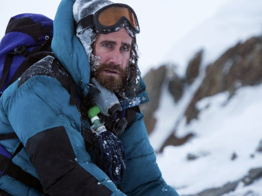 "Jake Gyllenhaal in a scene from the film ""Everest."""