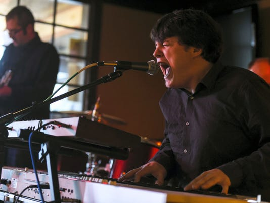 Rock band Ronald's Raygun from Frederick, Md. performs at Sharpshooters Grille in Gettysburg on Saturday night Feb. 7, 2015 during the Gettysburg Rocks music festival.