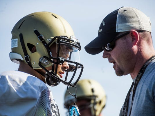 Delone Catholic head coach Corey Zortman returns to the Delone sidelines 21 years after leading the Squires to a district title as a starting quarterback.