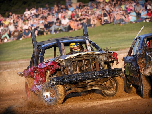 The Demolition Derby is the last big event of the Lebanon Area Fair. It is always popular with the crowd — numbered in the thousands — and with the participants, who run their junker vehicles down to bits of metal, rubber and sheer will.