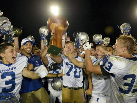 Cedar Crest has won the last three Cedar Bowls and will go for its fourth straight on Friday night at Earl Boltz Stadium.