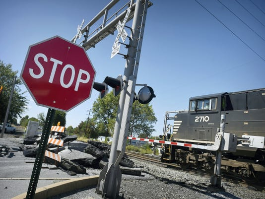 The Norfolk Southern railroad crossing at Eighth Avenue in Lebanon is being resurfaced, and ties are being replaced. The roadway is expected to reopen by Friday.