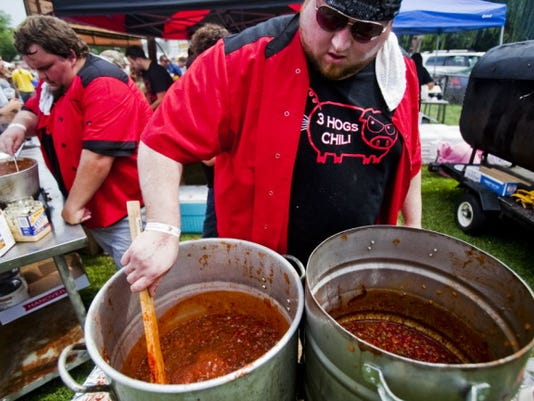The competition heats up early at the Hanover Chili Cook Off, as about 30 groups vie for the best of show award.