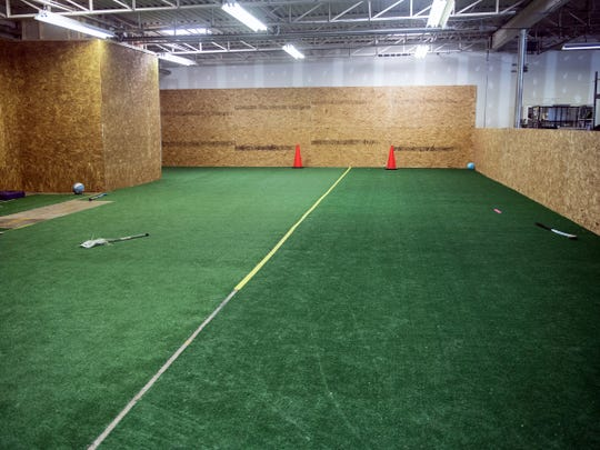 Teamzila's McSherrystown office includes a turf field hockey field in the warehouse area.