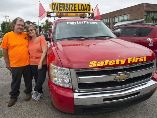 "John Raffensberger, CEO, said Lori Smith, president of Lori's Pilot Cars Inc., got the idea for the business when the couple was driving one day and saw a pilot truck and said she thought it might make for a fun business. The trucks have to meet safety requirements that vary by state and country. The ""Safety First,"" for example, is required by Canada, and the light bar is required by New York state."