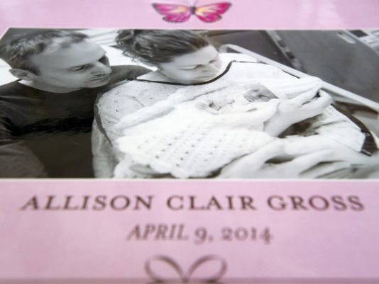 Amy and Blake Gross' daughter Allison Clair Gross died April 9, 2014. The Grosses wanted to give back at York Hospital for parents going through what they've been through.