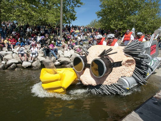 The Kinetic Sculpture Race has unique requirements for entry. One of them is that the human-powered sculpture must be able to go into Baltimore Harbor. The race returns to Baltimore May 2.