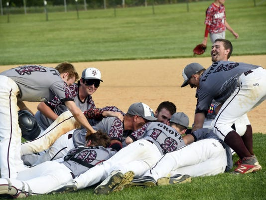 Southern Fulton wins the District 5 Class A baseball championship against Meyersdale on Thursday. Zach Clark hit a walk-off single to lift the Indians to a 5-4 victory in eight innings.