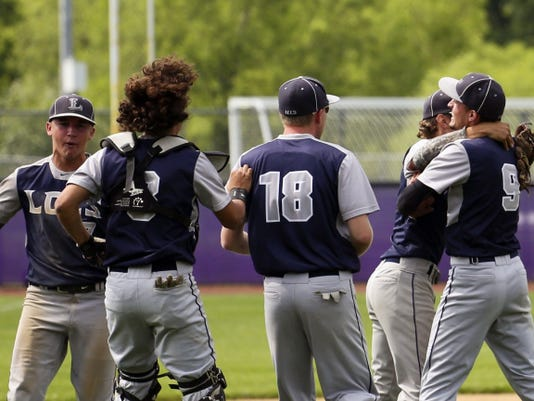 Lancaster County Christian players celebrate their 5-2 victory over Southern Fulton on Tuesday in the PIAA Class A semifinals.
