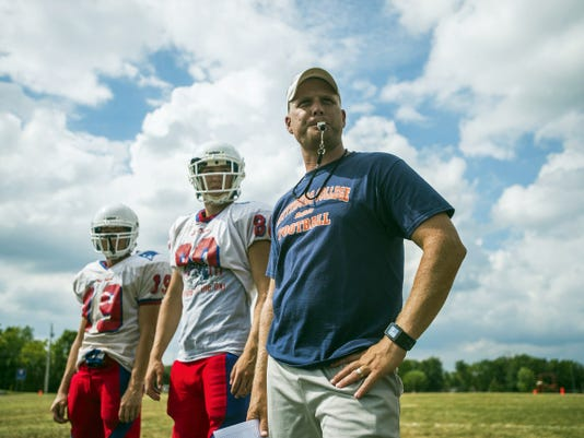 """New Oxford head coach Jason Warner was named the interim head coach with just over two months left before the start of the season. The team """"hasn't skipped a beat"""" with Warner, according to senior Trevon Brown."""