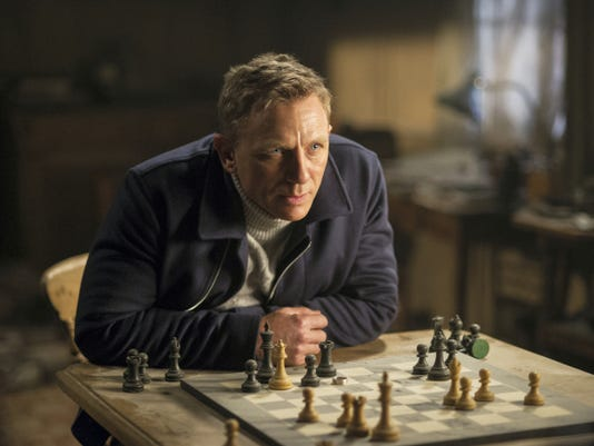 "Daniel Craig plays James Bond in ""Spectre."""