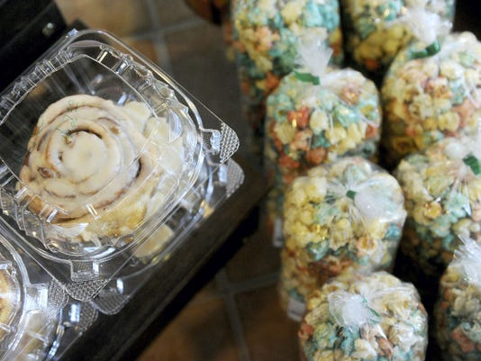 In addition to kettle corn, the Central Market stand Crazy Corkey's Kettle Corn sells fresh baked goods.