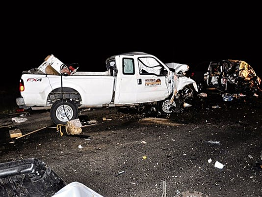Courtesy of New Mexico State Police.   A family of four from Texas was killed about 9 p.m Friday night after a collision on U.S. Highway 550 .